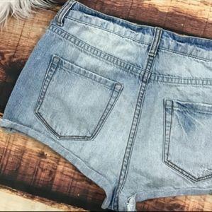 Forever 21 Shorts - Forever 21 Destruct Denim Shorts
